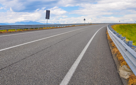 copy  space: Empty motorway with copy space Stock Photo