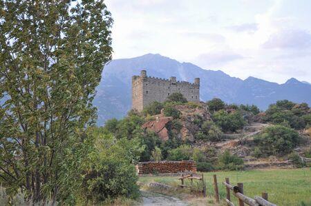 aosta: Ussel Castle in Chatillon in Aosta Valley, Italy Editorial