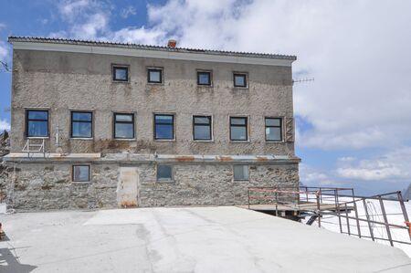 aosta: Rifugio Torino mountain shelter refuge cabin in Aosta Valley, Italy