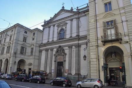 st  francis: TURIN, ITALY - CIRCA JANUARY 2016: San Francesco da Paola (St Francis) parish church
