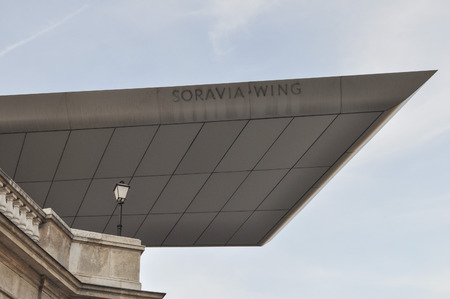 hans: WIEN, AUSTRIA - CIRCA FEBRUARY 2016: Soravia Wing at the Albertina museum of art designed by architect Hans Hollain