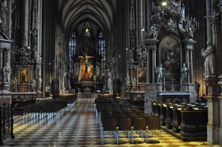 wien: WIEN, AUSTRIA - CIRCA FEBRUARY 2016: Stephansdom Domkirche St Stephan (St Stephen Cathedral) church
