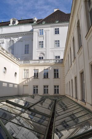 abbreviated: WIEN, AUSTRIA - CIRCA FEBRUARY 2016: The Austrian National Library (Oesterreichische Nationalbibliothek, abbreviated ONB) is the largest library Editorial