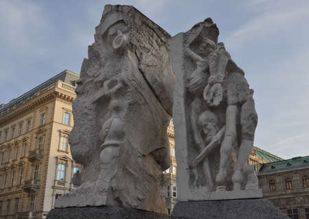 fascism: WIEN, AUSTRIA - CIRCA FEBRUARY 2016: The Gates of Violence is a monument against war and fascism