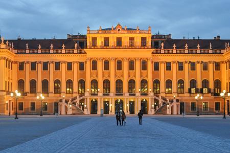 schloss schoenbrunn: WIEN, AUSTRIA - CIRCA FEBRUARY 2016: Schloss Schoenbrunn (meaning Schoenbrunn Palace) imperial summer residence