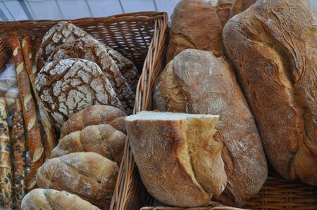 food staple: Bread staple food prepared from a dough of flour and water by bakin