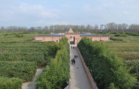 FONTANELLATO, ITALY - CIRCA MARCH 2016: Labirinto della Masone culture park