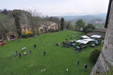 castello: SCIPIONE CASTELLO, SALSOMAGGIORE TERME, ITALY - CIRCA MARCH 2016: Castello di Scipione aka Castello Pallavicino