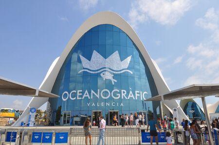 oceanographic: VALENCIA, SPAIN - CIRCA JULY 2016: Oceanografic (meaning Oceanographic) museum at Ciudad de las Artes y las Ciencias (meaning City of Arts and Sciences)