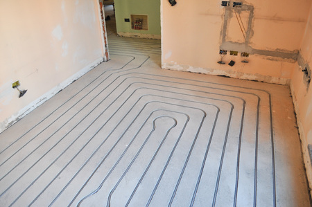 convection: Underfloor heating and cooling indoor climate control for thermal comfort using conduction radiation and convection