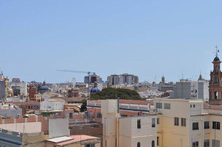 valencia: Aerial view of the city of Valencia, Spain