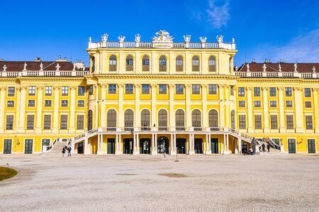 schloss schonbrunn: WIEN, AUSTRIA - CIRCA FEBRUARY 2016: High_dynamic_range (HDR) Schloss Schoenbrunn (meaning Schoenbrunn Palace) imperial summer residence