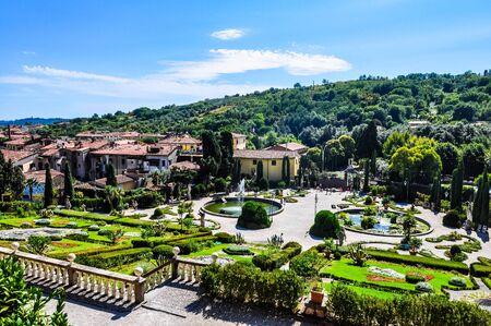 garzoni: PESCIA, ITALY - CIRCA AUGUST 2016: High_dynamic_range (HDR) Garden of Villa Garzoni in Collodi