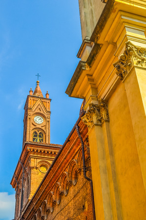 piedmont: High dynamic range (HDR) San Giovanni Battista church in Bra Piedmont Italy Stock Photo