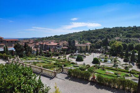 collodi: PESCIA, ITALY - CIRCA AUGUST 2016: Garden of Villa Garzoni in Collodi