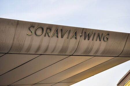 hans: WIEN, AUSTRIA - CIRCA FEBRUARY 2016: High_dynamic_range (HDR) Soravia Wing at the Albertina museum of art designed by architect Hans Hollain Editorial