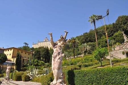 garzoni: PESCIA, ITALY - CIRCA AUGUST 2016: Garden of Villa Garzoni in Collodi