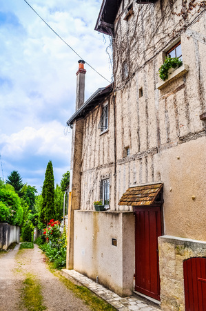 High dynamic range (HDR) Ancient wooden frame building in Amboise France