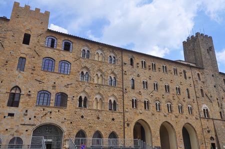 priori: Piazza dei Priori square in Volterra, Italy