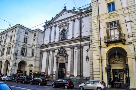 francis: TURIN, ITALY - CIRCA JANUARY 2016: High_dynamic_range (HDR) San Francesco da Paola (St Francis) parish church Editorial