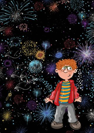 the baby in the fireworks