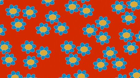 fabric patter with flowers Stock Photo