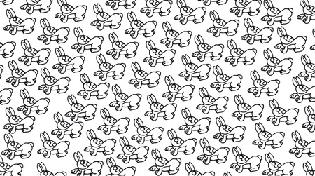 Cards or cloths with the motif repeated to the drawn rabbit design, also designed for nice banners Stok Fotoğraf