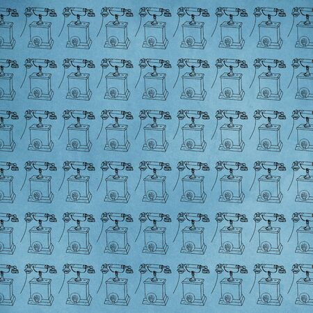 a 50s phone, repeated reason pattern Banco de Imagens