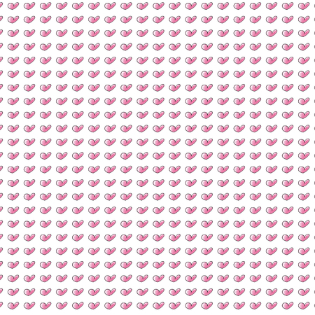 heart, repeated pattern