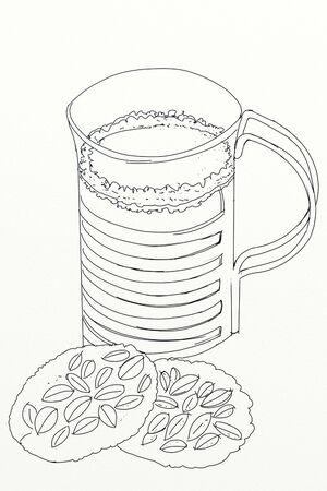 Plate with brioche, for breakfast