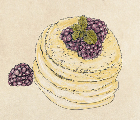 fruit and cream pastries