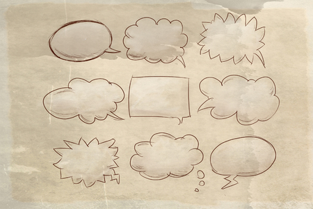 the clouds of the comics stationery, comics color spots and space to write whatever you wantobjects, write, remember, idea, baroque frame, illustration, vintage, butterfly, flower