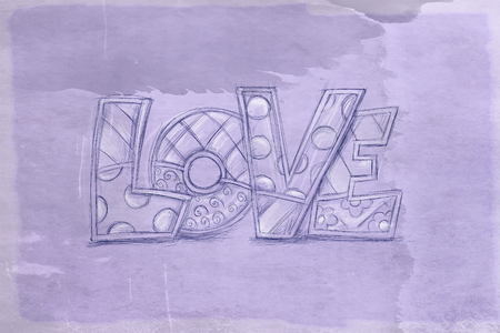 a love inscription stationery, comics color spots and space to write whatever you want