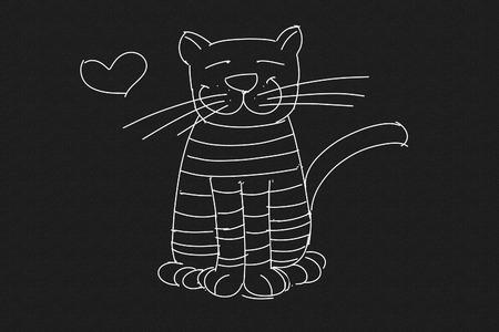 a strait cat, stylized series Banco de Imagens
