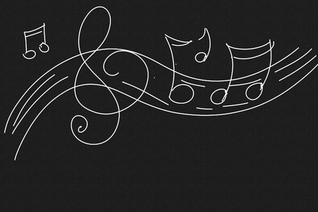 discordant notes and musical key stylized series