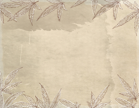 frame and leaves of marijuana 版權商用圖片