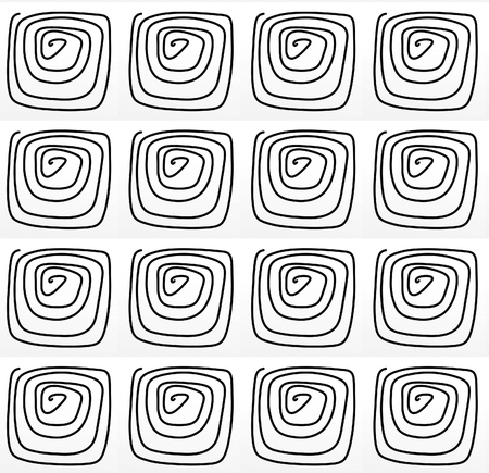 spiral with repeated motif for cards and fabrics