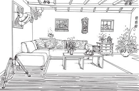 Living room interior room