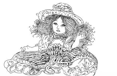 ceramic doll 版權商用圖片