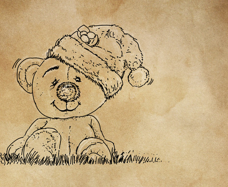 a bear with a cap