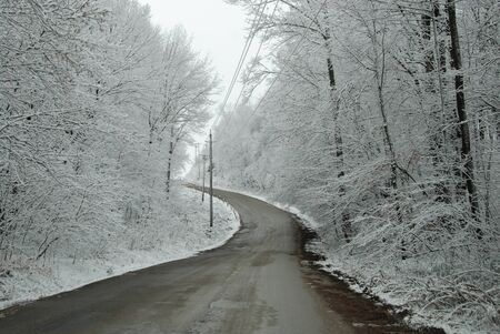 road in winter: WINTER ROAD, Ontario Canada