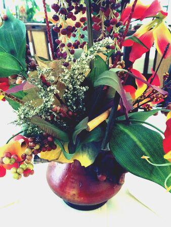 art: Art in a flower Stock Photo