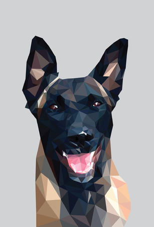 dog polygon design Illustration