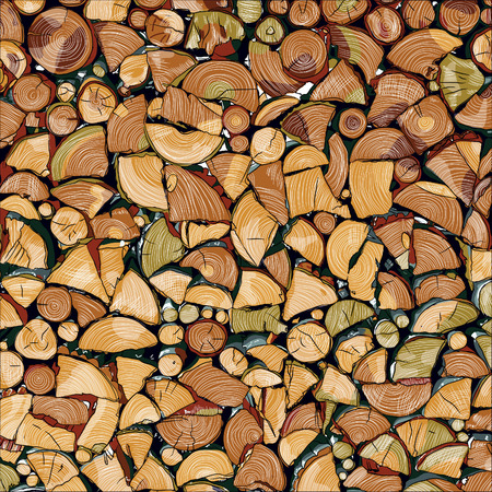 logs: Pile of wood logs ready for winter  landscape exterior