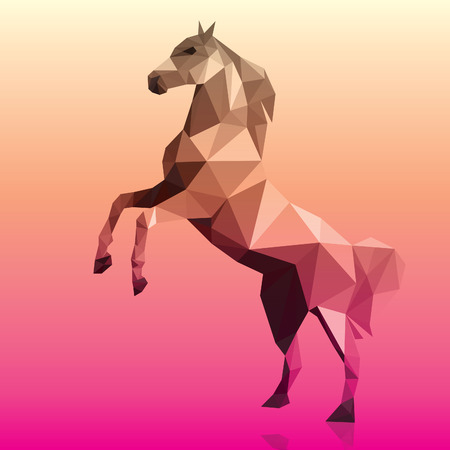 Horse polygonal geometric pattern design vector illustration