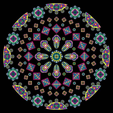 gothic architecture: Cathedral window, vector illustration.