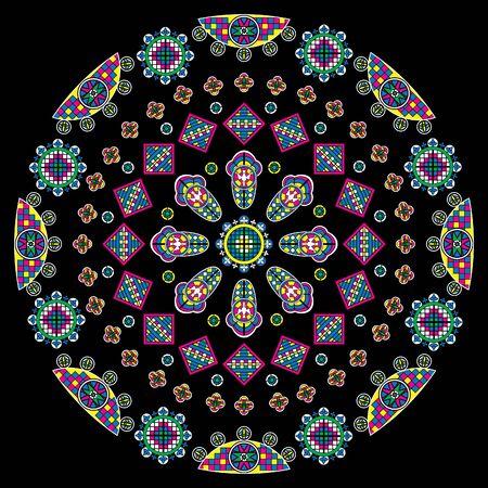 sacraments: Cathedral window, vector illustration.