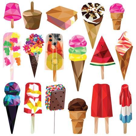 Ice creams 向量圖像