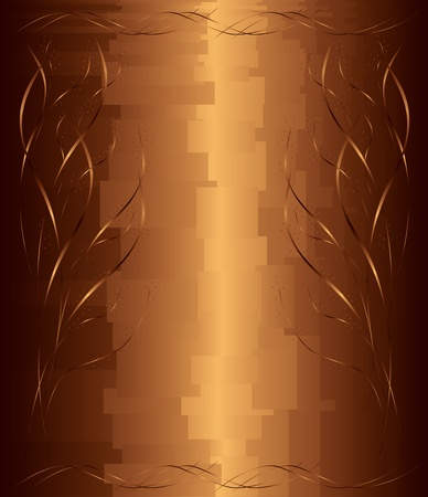 abstract background chocolate   gold with decorative gradient  elements,  vector illustration Vector