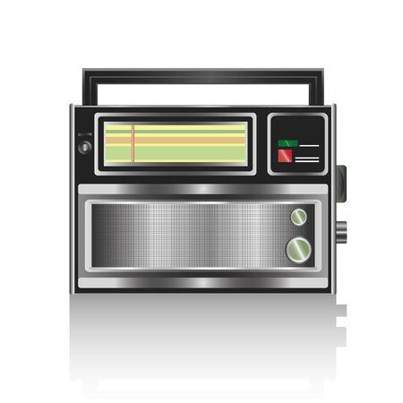 Realistic radio isolated on white background. Vector illustration Illustration